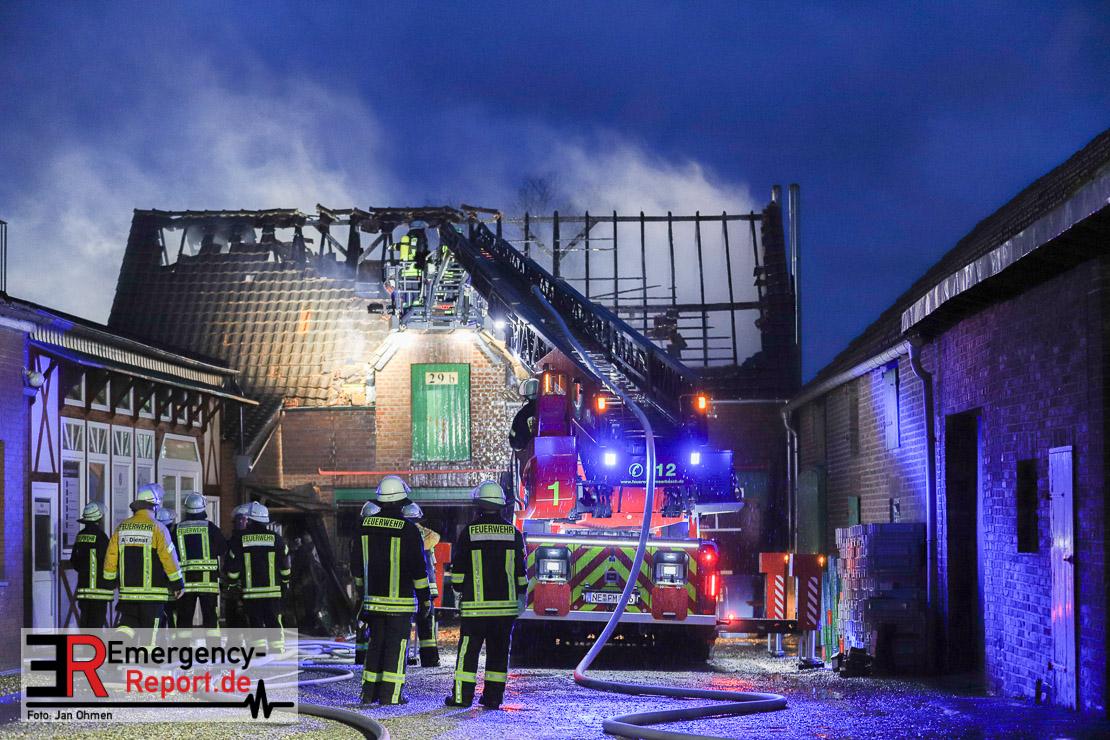 Schreinereibrand in Bösinghoven am 15.03.19